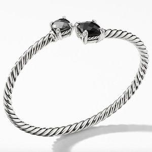 David Yurman Chatelane Bypass Bracelet Black Onyx